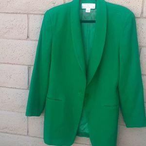 Rena Rowen for Saville wool green Blazer